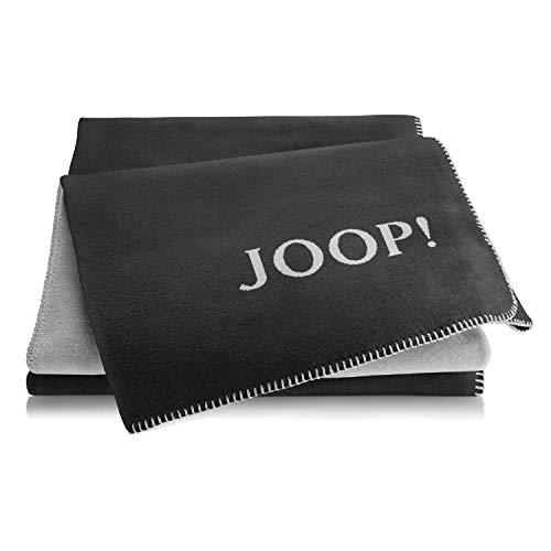 Joop! Wohndecke Uni-Doubleface Baumwollmischung anthrazit Größe 150x200 cm