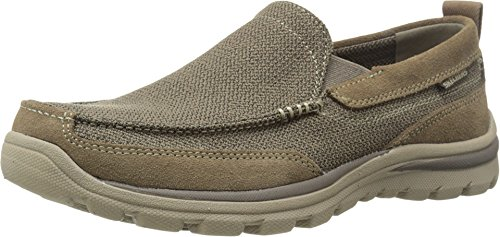 Skechers USA Men's Relaxed Fit-Superior-Milford Shoe, Light Brown, 6.5 M US