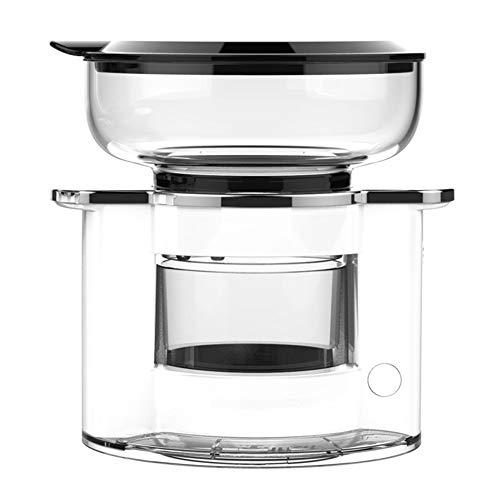 QHAI Automatische Filterkaffeemaschine, Maschine Grinder Haushalt bewegliche kleine Schleifen Kaffee, Bohnenpulver, Tee,Weiß