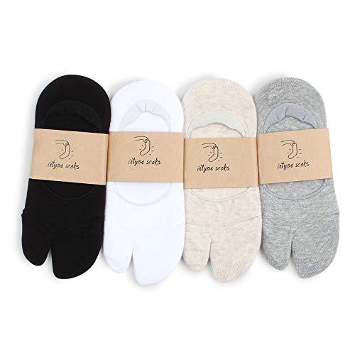 Women tabi geta socks japanese style no show socks (4 Pairs) XD