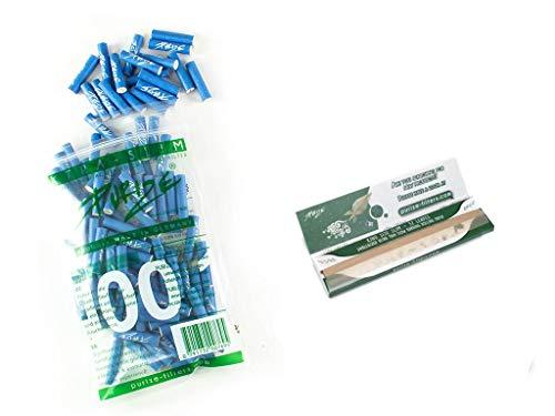 100er PURIZE® Xtra Slim Size Aktivkohlefilter blau