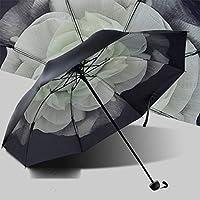 クリエイティブな日焼け止めひまわり傘、抗紫外線サンシェード三つ折り傘