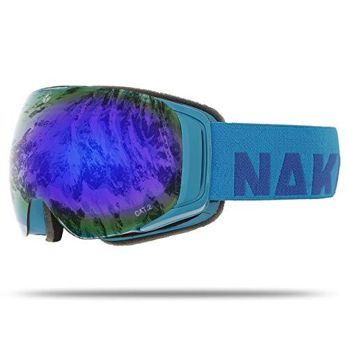 NAKED Optics Force EVO Aqua (Blue Lens), inkl. Schlechtwetterglas