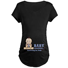 CafePress Arriving in July Maternity T-Shirt Maternity Tee