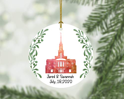 Lplpol Custom Wedding Christmas Ornament, Valentines Gift,Temple Wedding, Spouse Gift, LDS Temple Gift, Wedding Gift,