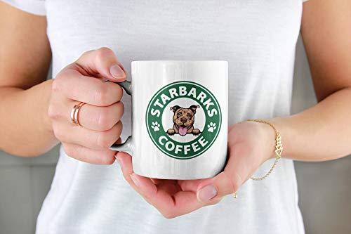Pitbull Starbarks Kaffeetasse, tolles Geschenk für Hunderassen, Welpen, Hundeliebhaber, Ihn, Mutter, Vater, Freund, 325 ml