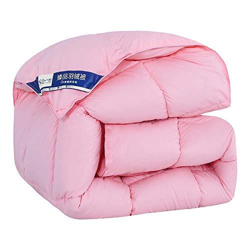 CHOU DAN Duvet Cover King Size,Thickened Warm Duvet 95 White Goose Down 4 Catties Duvet-Pink_220*240cm 6 Kg