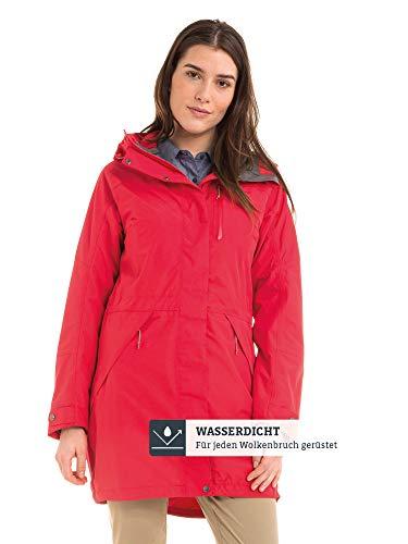 Schöffel Damen Parka Malmö1 wasserdichte Regenjacke für Frauen mit praktischen Taschen, modische und leichte Jacke für Frühling und Sommer, rosa (lollipop), L/42