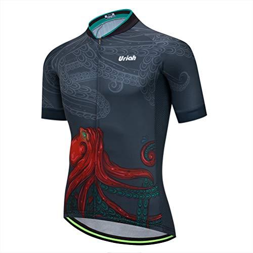 Uriah Men's Cycling Jersey Short Sleeve Reflective Octopus Size XL(CN)