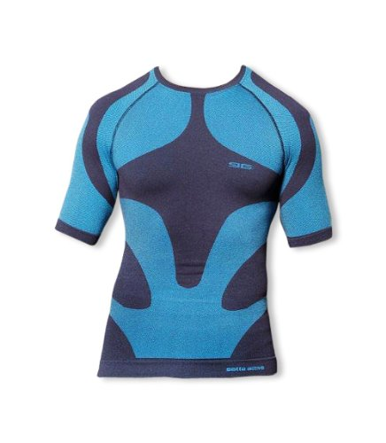 GAT T-shirt men – Sous-Vêtement fonctionnel thermoactive Seamless Technology - Bleu - XX-Large