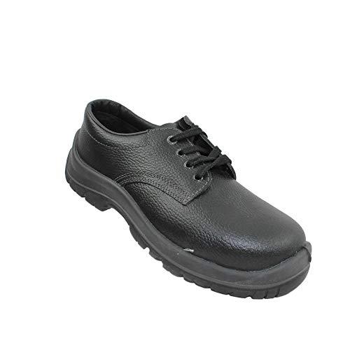 Ergos Madrid S1P SRC Calzado de Seguridad Calzado de Trabajo Calzado de Trekking Plano Negro, Tamaño:39 EU
