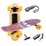 Casulo Skateboard Électrique à Télécommande sans Fil, Moteur 350W 3 Modes de Vitesses Réglables 10-20 km/h pour Enfant/Débutant 8 Ans+ (EU Stock)