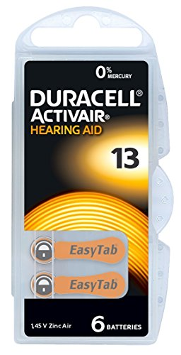 30 Stück (5 Blister) Duracell Typ 13 Hörgerätebatterie Zinc Air P13 PR48 ZL2 mit 2 Stück LUXTOR® Reinigungstücher für Hörgeräte und Otoplastiken