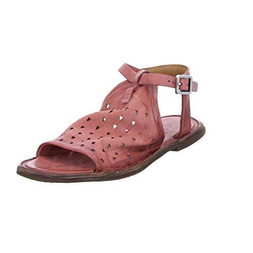 A.S.98 Damen Sandale 557022 Leder Ethno-Sandalette mit Riemchen Rot (Ginger) Größe 42 EU