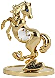 Caballo de/Estatua 24 K oro recubierto de cristal Hecho con SWAROVSKI ELEMENTS
