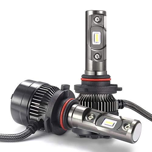 LED Bombillas para Coche Faros Delanteros - 1 par, AUTLEAD 9005 Luces Altas/Bajas, Luz Antiniebla, CSP 70W 7200LM, Blanco Frío de 6500K, Kit de Conversión Impermeable,