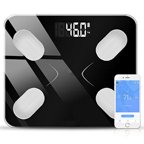 Liaoleil 10 weegschaal, lichaamsvetweegschaal, wetenschappelijke smart elektronische lcd-display, digitaal gewicht, badkamer, balans, bluetooth-app voor Android of iOS