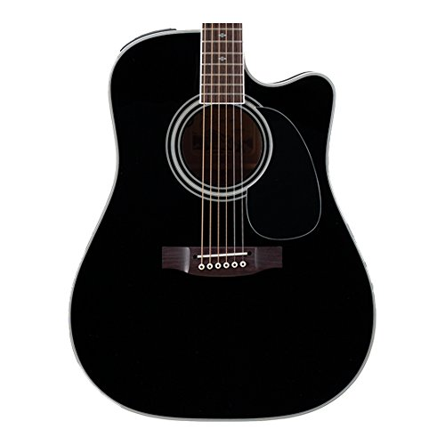 Takamine EF341SC Pro Series Dreadnought Acoustic Electric Guitar Black with Case