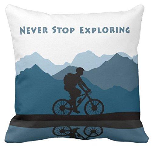 Biking Square Pillow Case