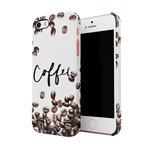 Coffee Beans Hard Thin Plastic Phone Case Cover For iPhone 5 & iPhone 5s & iPhone SE
