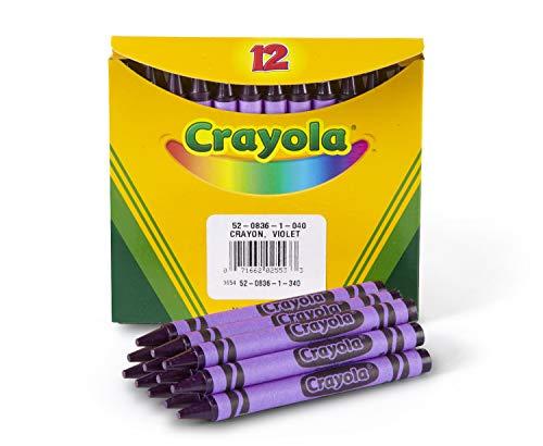 Crayola Crayons in Purple, Bulk Crayons, 12 Count, Violet, Standard (5208361040)