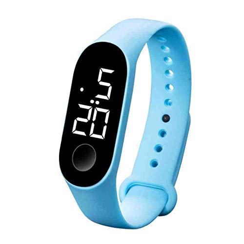 WMYATING Exquisito, Hermoso, decente, novedoso y único. Relojes de Pulsera Relojes para Hombre LED Deportes Sensor Luminoso Relojes Moda Hombres y Mujeres Relojes Male Reloj (Color : B)