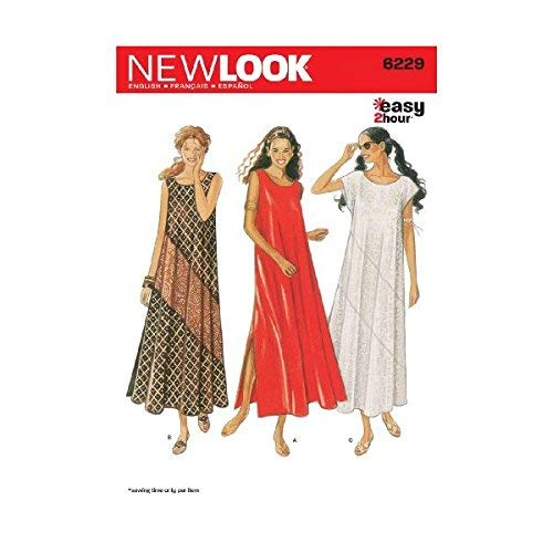New Look Sewing Pattern 6229 Misses Dresses, Size A (8-10-12-14-16-18)
