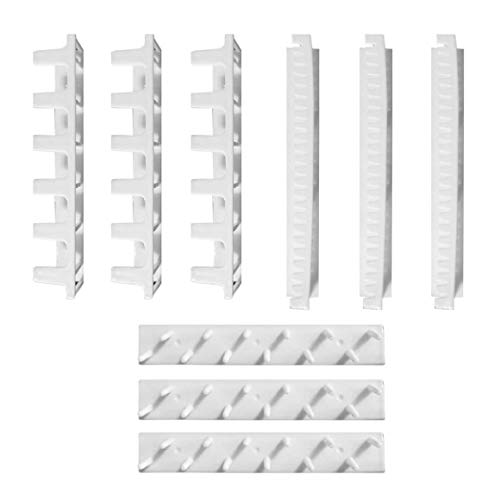 Diseño práctico Exhibición de joyas Collar Pendiente Pulsera Organizador Soporte de exhibición Soporte de estante Dormitorio Joyas Colgador de pared - Blanco