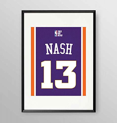 Poster con cornice' NBA STEVE NASH' - NBA COLLECTION - Artyexpress Made in Italy