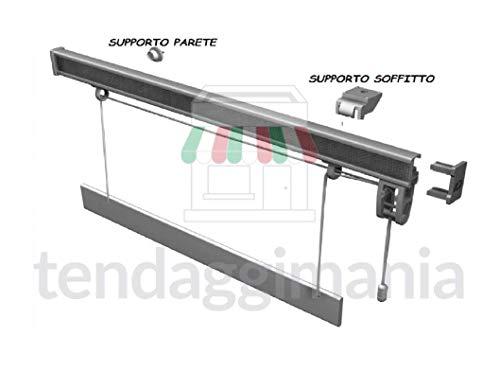Bastone Binario per Tenda A Pacchetto A Vetro Professionale SGANCIO RAPIDO in Alluminio Varie Misure (L. 50 CM)