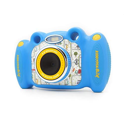 Kiddypix 'Blizz' Kinderkamera mit Webcam-Funktion, gummierte Außenseite, Integrierte Spiele, Blau