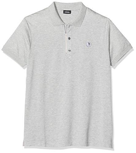 Diesel Herren T-HART Polo Shirt Poloshirt, Grau (Grey 912), (Herstellergröße: XX-Large)