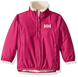 Helly Hansen Kids & Baby Reversible Soft Pile Jacket with Water Repellant Shell, 039 Festival Fuchsia, Size 1
