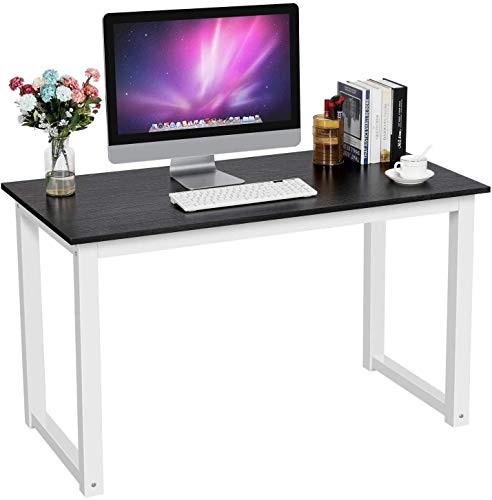 FMOGE Esquina Compacta Escritorio para Computadora Pc Computadora Portátil Escritorio Escritorio Mesa De Escritura Estación De Trabajo para Oficina En Casa (Color: Negro)