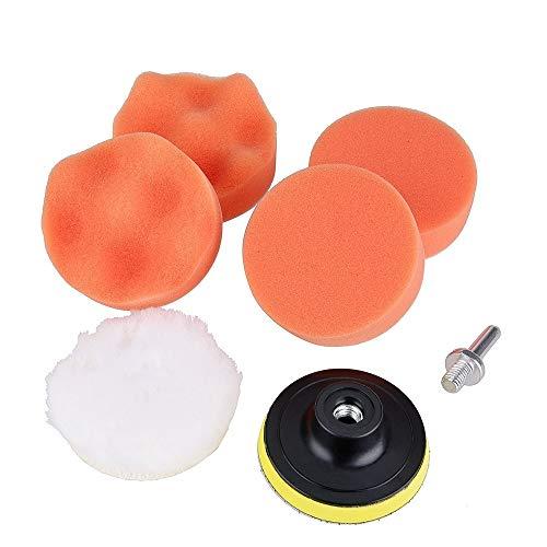Auto-polijstspons 7 in 1 set met sponsjes thema auto polijstpad kit, voor autopolijsten, maat 5 inch