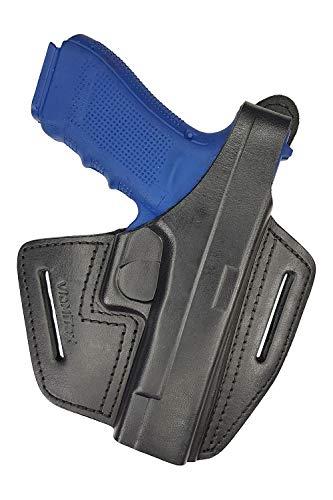 VlaMiTex Funda de Piel para Glock 17 19 22 23 25 26 27 31 32 33 34 37 (B37 - 17/22/31)
