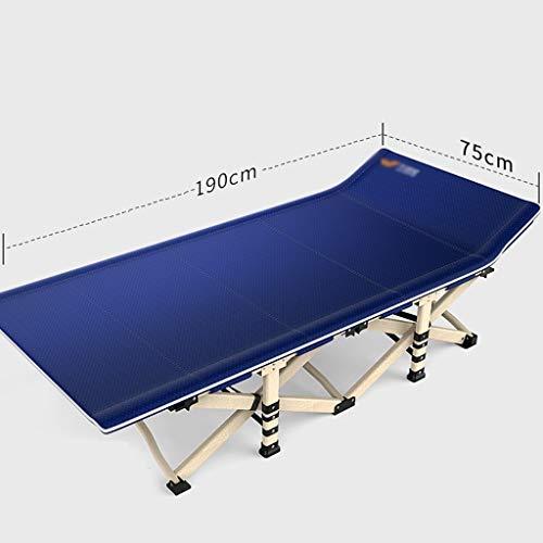 JZBar Fauteuil de détente Pliant et Respirant décontracté, Chaise Longue Simple lit de Bureau Sieste lit Pliant Taille: 75 * 190cm (Couleur : B)