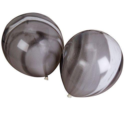 Neviti zwart-wit marmer ballonnen - pak van 8