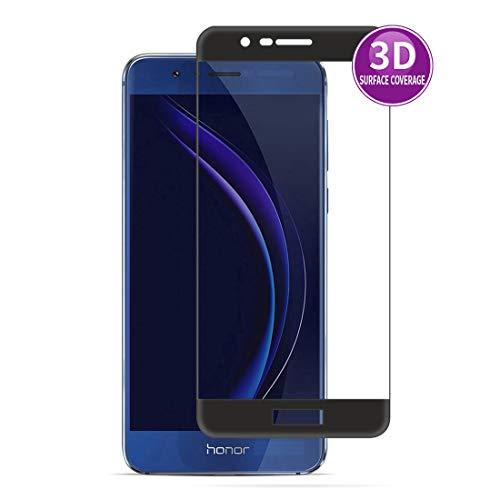 E-Hamii 3D Film Protecteur pour Huawei Honor 8 Pro (Noir), Couverture Complète Protection écran, 9H Verre Tempé Protectrice, Anti-Rayures et Anti-Empreintes Digitales