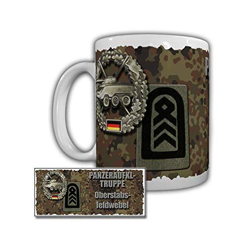 Tasse Panzeraufklärer Oberstabsfeldwebel Litzen Kragenspiegel Bundeswehr #29838
