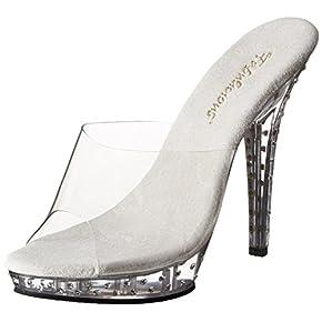Pleaser Women's Lip-101SDT/C/M Platform Sandal