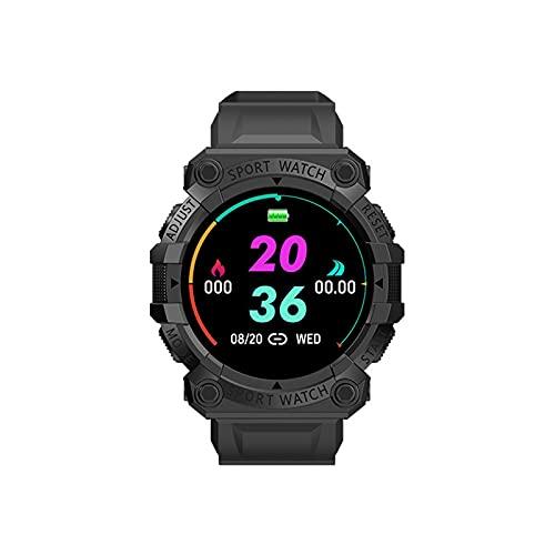 nvtuuer Smartwatch Sportuhr, Multifunktionsuhr 1,44 Zoll Runder Bildschirm Gebogener Bildschirm Bluetooth IP67 Wasserdicht Touchscreen Smart Watch Uhr für Damen Herren (Schwarz)