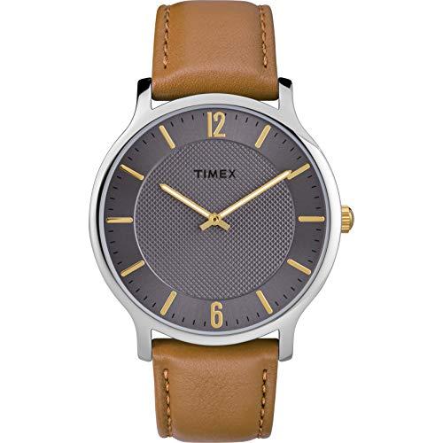 Timex Men's TW2R49700 Metropolitan 40mm Brown/Gray Leather Strap Watch