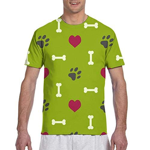 Colorido Animal Paw Prints Seamless Full 3D Impreso Camiseta Plus Size Cool Printing Top Blusa XXXL