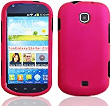 Luckiefind Case Compatible with Samsung Galaxy Stellar i200 / Samsung Galaxy Legend, Slim Rubberized Cover Protective Hard Case (Hard Pink)