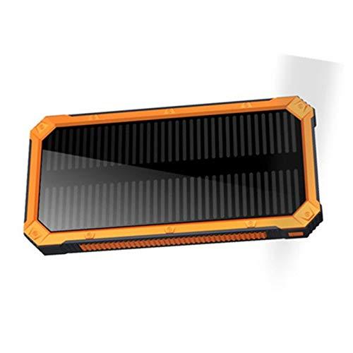 Cargador portátil compacto de gran capacidad 70000 mAh, panel solar dual USB, batería externa para teléfono inteligente, tablet, naranja, 70000