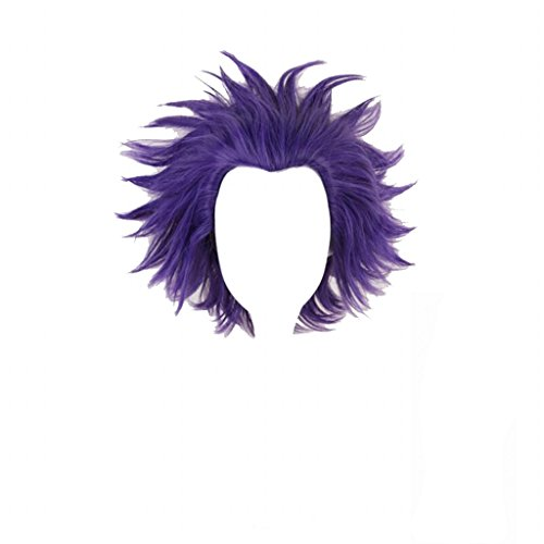 Ani·Lnc Anime Cosplay Wig Short Purple Hair Synthetic Wigs with free Cap
