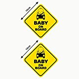 Autodomy Stickers Baby Jedi Girl Star Wars Baby On Board Baby on Board Baby in Car Pack of 2 Uso Externo