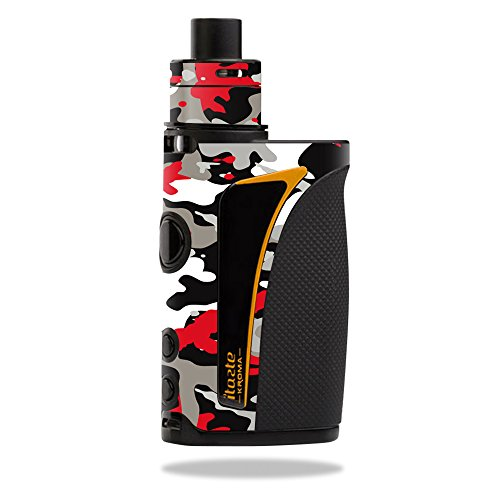 MightySkins Skin Compatible with Innokin iTaste Kroma Slipstream – Red Camo | Protective, Durable, and Unique Vinyl Decal wrap Cover | Easy to Apply, Remove, and Change Styles | Made in The USA