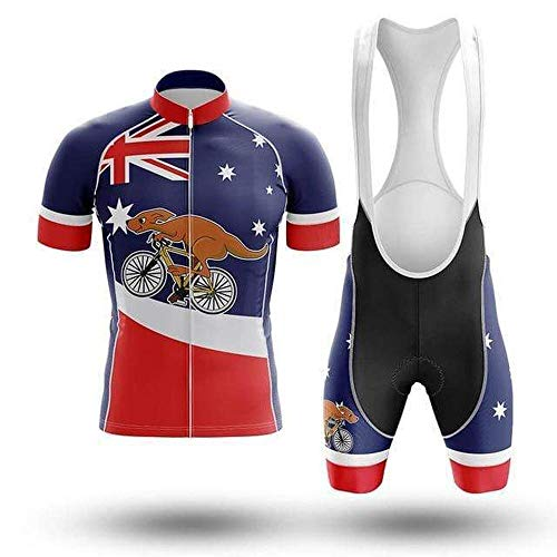 Factory8 - Country Jerseys - Love Your Country! Cycling Jerseys & Sets Collection - Team Australia 'Roo on the Run' Men's Cycling Jersey & Short Set - Australia - XL